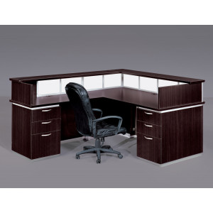 DMI Executive Pimlico Reception Desk w/ Modesty Panel & Return -  Product Picture 2