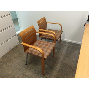 Haworth Wood Trim Guest Chair -  Product Picture 1