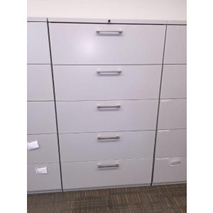 Haworth White Lateral File Cabinet 36 Quot W 5 Dr Filing
