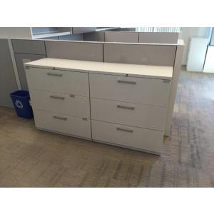 Haworth White Lateral File Cabinet (36