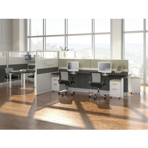 Novo Cubicle Workstation (Multiple Sizes Available) -  Product Picture 1