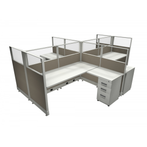 Novo Cubicle Workstation (Multiple Sizes Available) -  Product Picture 4