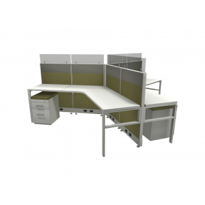 Novo Cubicle Workstation (Multiple Sizes Available) -  Product Picture 7