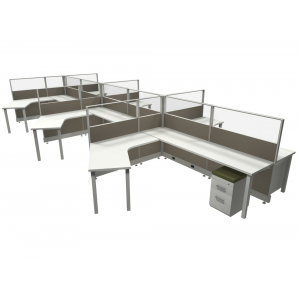 Novo Cubicle Workstation (Multiple Sizes Available) -  Product Picture 8