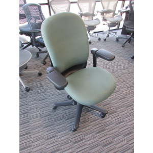 Steelcase Green High Back Fabric Task Chair -  Product Picture 1