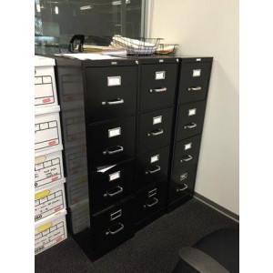 4 Drawer Black Vertical File Cabinet -  Product Picture 1