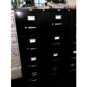 4 Drawer Black Vertical File Cabinet -  Product Picture 2