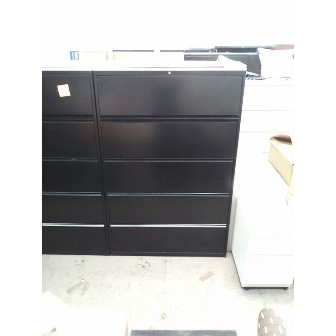 ... AFS Black 5 Drawer Lateral File Cabinets   Product Picture ...