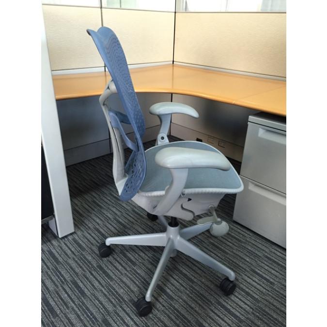 herman miller mirra blue grey chair chairs cube designs