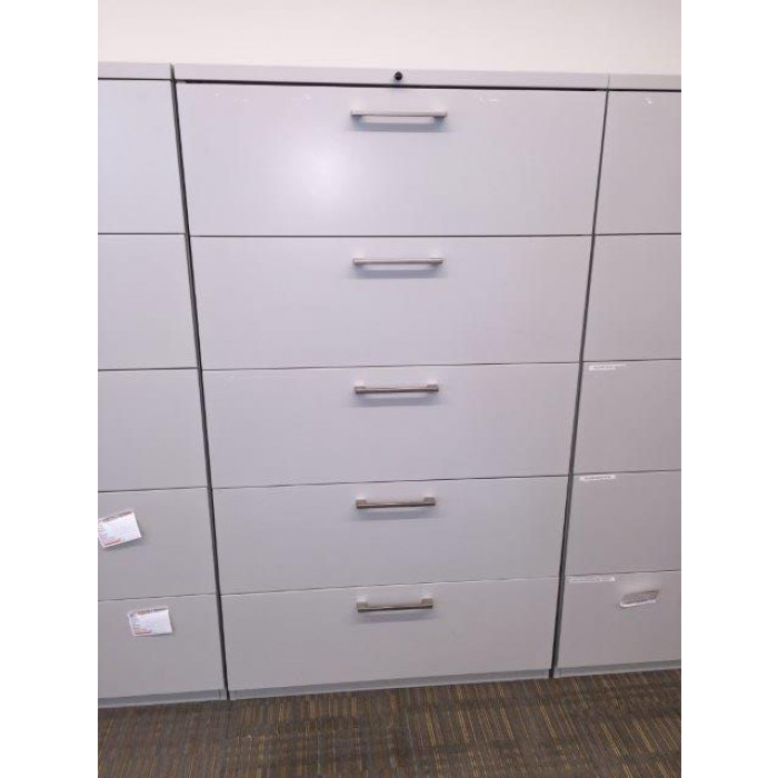 Haworth White Lateral File Cabinet (36 W) (5 DR)  sc 1 st  Cube Designs Office Furniture Discounters & Haworth White Lateral File Cabinet (36