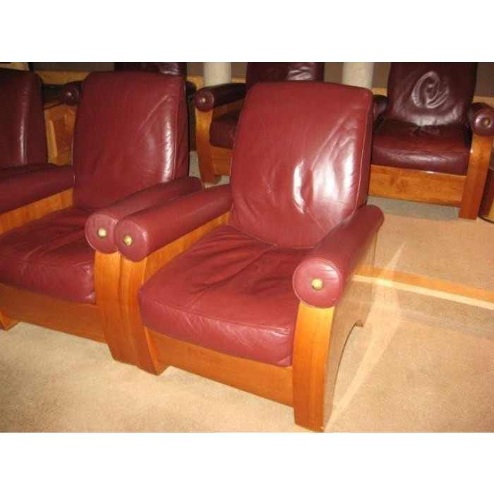 MGM Leather Movie Style Lounge Chair