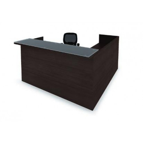 The Perfect Cherryman Amber Reception Laminate Desk