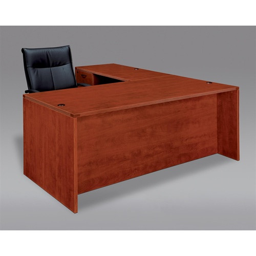 Cherryman Amber L Shape Laminate Desk