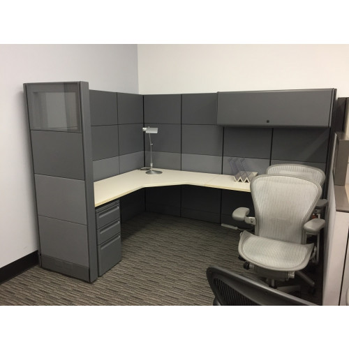 The Perfect Herman Miller Ethospace Metallic Cubicle Unit
