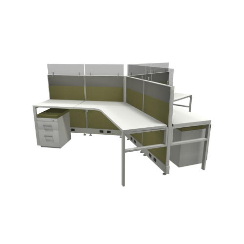 Novo Cubicle Workstation (Multiple Sizes Available)